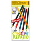 Creative Jungle: set creioane colorate cu două capete, cu carte de colorat - 12 buc.