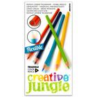 Creative Jungle: creioane colorate triunghiulare şi flexibile - 12 buc.