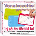 Scrie şi şterge: Exerciţii de liniatură - cartonaşe pentru dezvoltarea abilităţilor, lb. maghiară