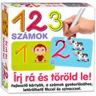 Scrie şi şterge: 123 Cifrele - cartonaşe pentru dezvoltarea abilităţilor, lb. maghiară