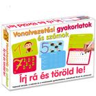 Exerciții de trasare și cifrele: cărţi educative cu markere lavabile - în. lb. maghiară