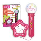 Microfon karaoke cu mini-boxă - roz