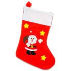 Karácsonyi zokni Mikulással és csillagokkal - 47 cm