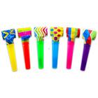 Suflători spirală pentru petreceri - 6 buc., diferite culori