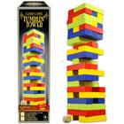 Klasszikus társasjátékok gyűjtemény - színes építkező torony fából