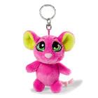Nici: Şoarece breloc figurină pluş - 10 cm, roz