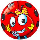 Buburuză: minge cauciuc - 20 cm