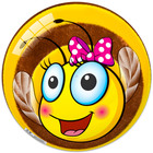 Méhecskés gumilabda - 23 cm