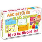 Scrie şi şterge: Literele alfabetului şi primele cuvinte - în lb. maghiară