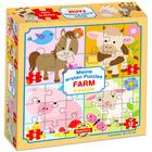 Farm állatok 4 az 1-ben puzzle