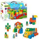 Wader: 140 buc. cuburi de construcţii de dimensiune medie în cutie
