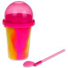 Slushy Maker: Színkavalkád jégkásakészítő készlet - rózsaszín