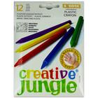Creative Jungle: 12 darabos plastic zsírkréta, extra hosszú