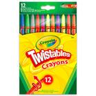 Crayola: 12 darabos csavarozható zsírkréta műanyag tokban
