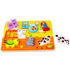 Tooky Toy: Állatos fa formaválogató puzzle