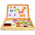 Tooky Toy: 2in1 mágneses puzzle kirakó fadobozban - 85 darabos