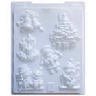 Gipsz öntőforma karácsonyi mintával