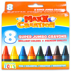 Maxx Creation: 8 darabos szuper tömzsi zsírkréta