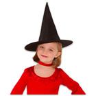 Boszorkány kalap, fekete színben - kis méret