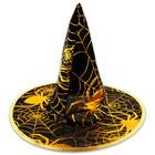 Arany pókhálós boszorkány kalap