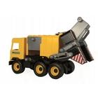 Wader: Middle Truck kukásautó, 42 cm - sárga