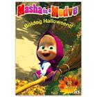 Masha és a Medve: Boldog Halloweent! kifestő matricákkal