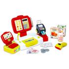 Smoby: Elektronikus pénztárgép mérleggel, piros színben
