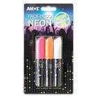 Amos: Set cu 3 vopsele pentru Face Painting - culori neon
