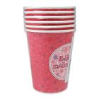 Boldog születésnapot 6 buc. pahare carton cu inscripţie - 250 ml, pink