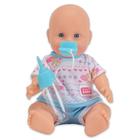 New Born Baby: Păpuşă care face pipi - în haine albastre