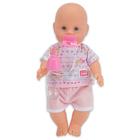 New Born Baby: Păpuşă care face pipi - în haine roz