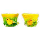Húsvéti kis kosár kiscsibével 9 x 12,5 cm