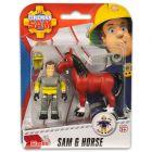 Sam, a tűzoltó: Sam figura lóval