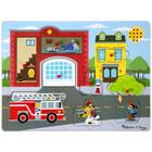 Melissa and Doug: tűzoltóállomás hangos puzzle