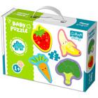 Trefl: zöldségek és gyümölcsök 4 x 2 darabos baba puzzle
