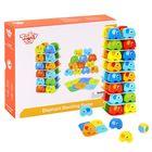 Tooky Toy: Fa elefántos rakosgató játék