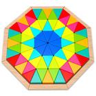 Nyolcszögletes fa puzzle