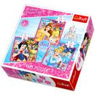 Trefl: Prinţesele Disney - puzzle 3-în-1