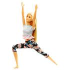Barbie Made To Move: Barbie flexibilă cu păr blond - yoga