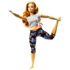 Barbie Made To Move: Barbie flexibilă cu păr blond închis - yoga