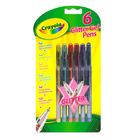 Crayola: 6 darabos csillámos zselés toll