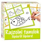 Învăţ să desenez pas cu pas - peştişor - educativ în lb. maghiară