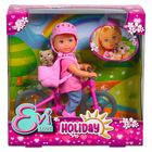 Evi Love: Evi baba kerékpárral