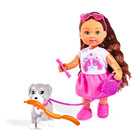 Evi Love: Évi barna hajú baba kutyával