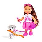 Évi Love: barna hajú baba kutyával