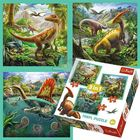 Trefl: Dinozaurii puzzle 3-în-1