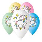 Set cu 5 baloane cu model unicorn - 30 cm