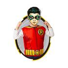Rubine: Justice League - Costum Robin premium cu mască de hârtie, 95-125 cm