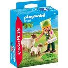 Playmobil: Figurină fermieră cu oiţe - 9356
