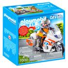 Playmobil: Motocicletă de urgență cu lumină intermitentă - 70051
